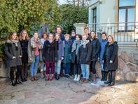 Teilnehmerinnen und Teilnehmer des internationelen Medienprojekts von Hochschule Mittweida und der Hochschule für Angewandte Wissenschaften Karelia in Finnland im Januar in Mittweida