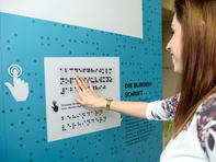 Die Wanderausstellung des Sächsischen Sozialministeriums war bis Anfang April an der Hochschule zu sehen.