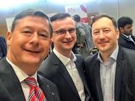 Haben bereits einen guten Job als Professoren an der Hochschule Mittweida, aber freuen sich über den großen Erfolg ihrer Jobmesse: Dekan Andreas Schmalfuß, Frank Schumann und André Schneider.