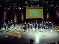 Am Ende des Medienmanagement-Studiums stehen die Präsentationen der Crossmedia-Kampagnen – hier für den Sächsischen Blasmusikverband e.V. und ...