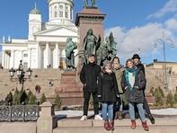 Gegenbesuch und Projektabschluss in Finnland im März – hier einige Mittweidaer in Helsinki.