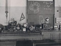 Der Hapthörsaal des Elektrotechnischen Instituts bot zeitgemäße technische Ausstattung. Quelle: Hochschularchiv Mittweida, Bildarchiv U_9_000